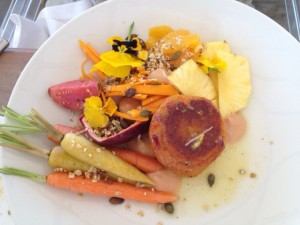 Yellow Salad Babel Restaurant